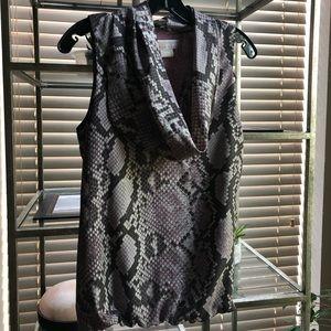 Michael Kors sleeveless cinched waist blouse
